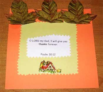 Church Crafts Children Thanksgiving Card Craft For Kids