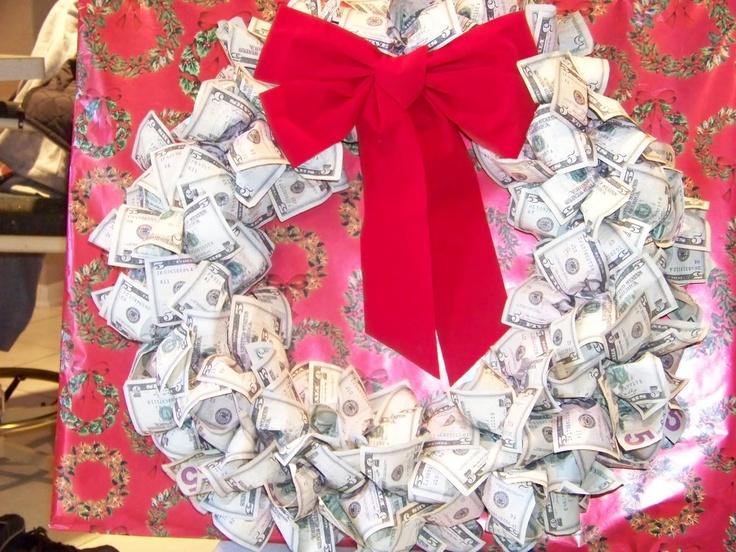 Money Wreath Christmas Pinterest Wreaths And Money