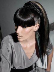 7 black ponytail