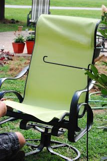 recover sling patio chairs zero gravity chair indoor canada 25+ best ideas on pinterest | upholstering chairs, makeover and ...