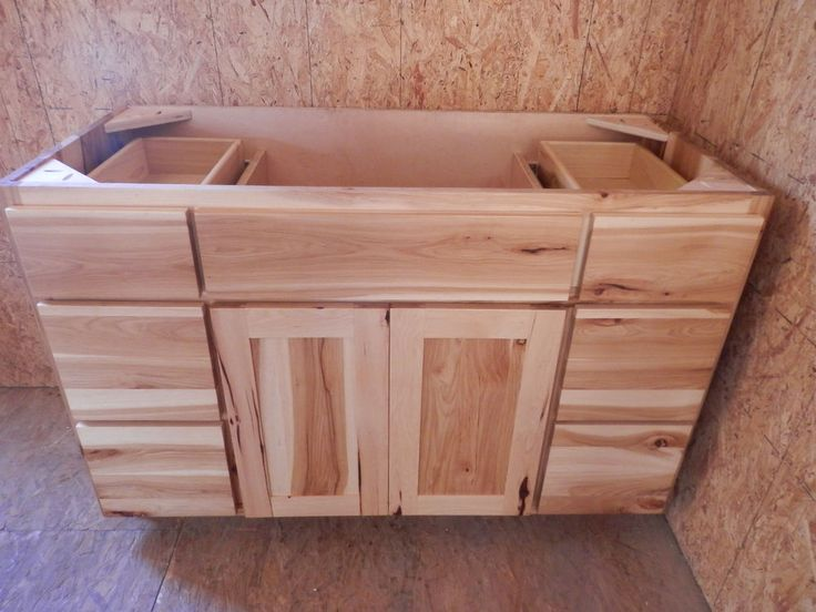 Amish made 48 hickory vanity custom rustic american made