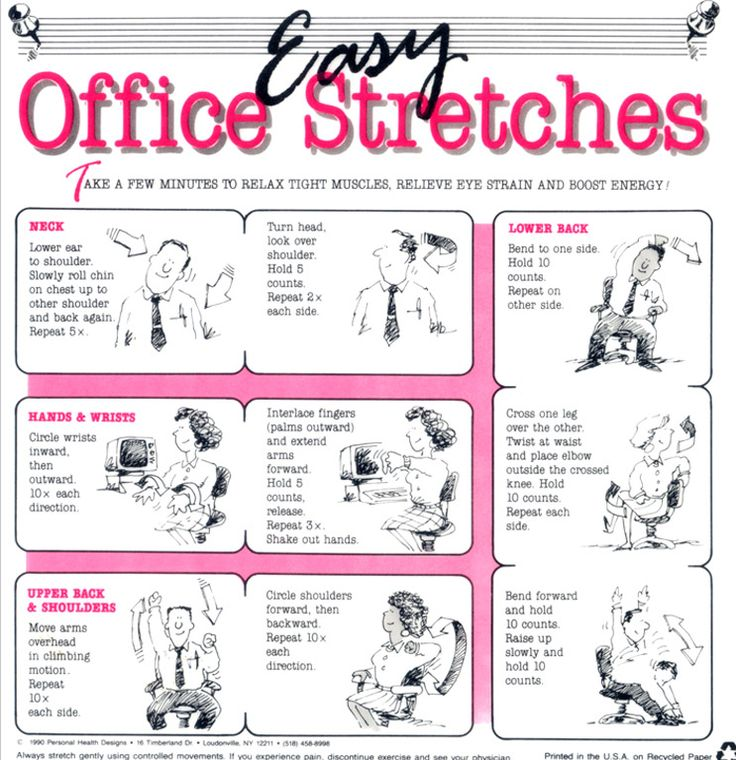 office chair yoga pdf desk and set india 78+ images about stretches on pinterest | the office, studying