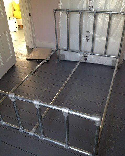 Diy Aluminum Bed Frame Technobubble.info » Diy Pipe Bed | Beds Made With Pipe