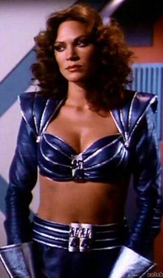 Pamela Hensley dressed as Alicia Fox