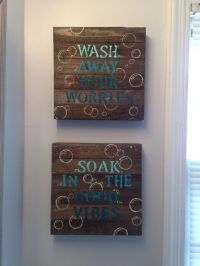 25+ best ideas about Bathroom Signs on Pinterest | Small ...