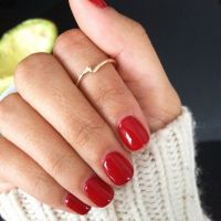 25+ best ideas about Red gel nails on Pinterest | Red ...