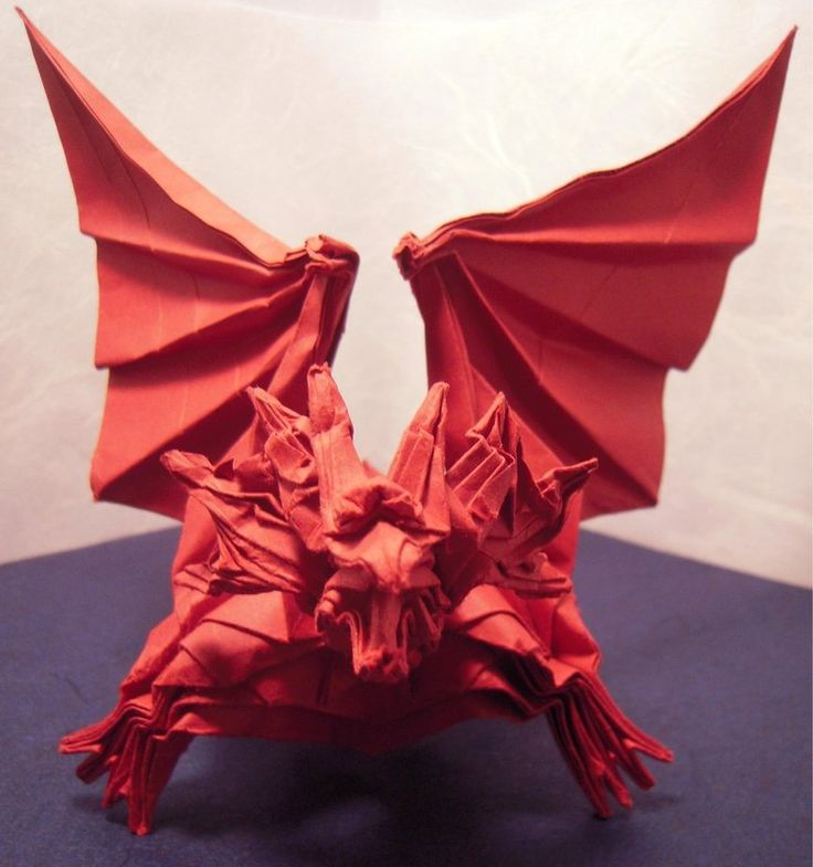 Origami Ancient Dragon Diagram