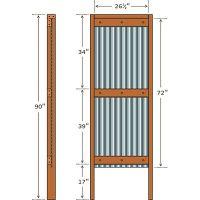 Stylish DIY outdoor shower | Shower doors, Privacy panels ...