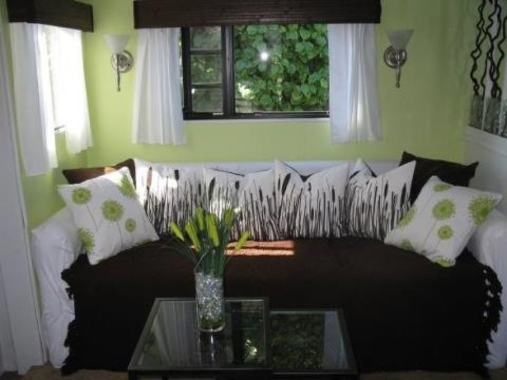 bright colored sofa covers linen fabric sectional nice camper interior!   caravan pinterest campers ...