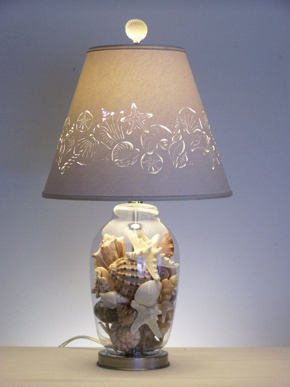 Fill Your Own Seashell Lamp Fillable Lamp Fillable Table