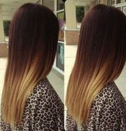 ombre hair. dark light hairstyles