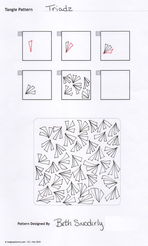 17 Best images about Zentangle Tutorials on Pinterest