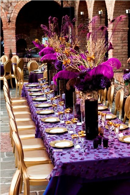 Purple & Gold Wedding Decor 2