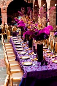 Purple & Gold Wedding Decor 2