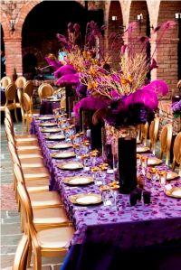Purple & Gold Wedding Decor 2 | Decorating, Centerpieces ...
