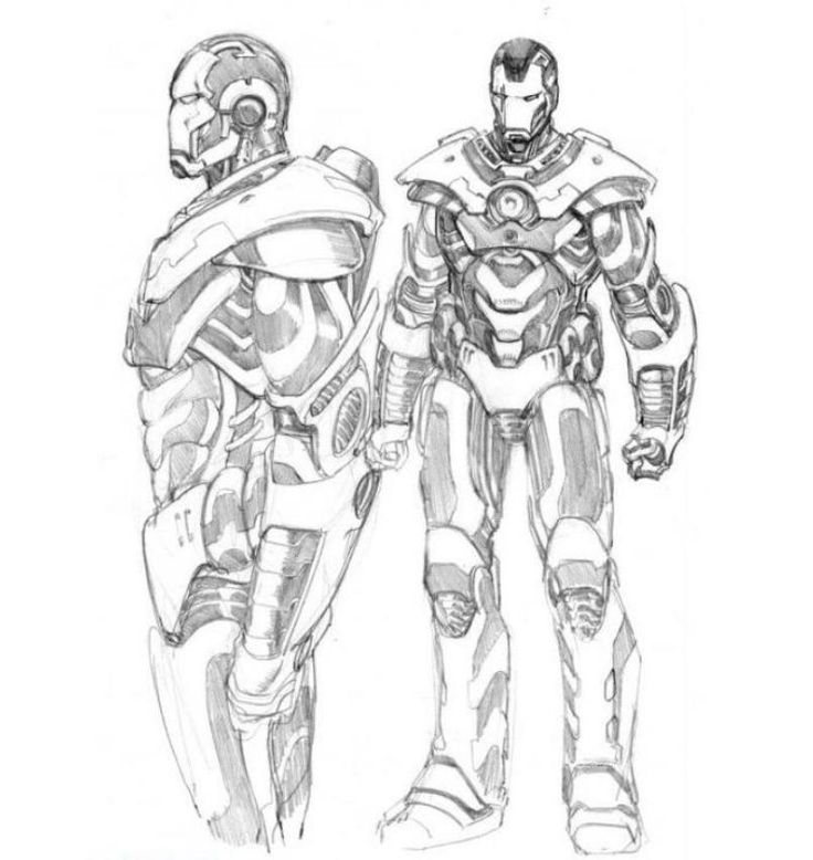 Download and Print Iron Man 2 War Machine Coloring Pages