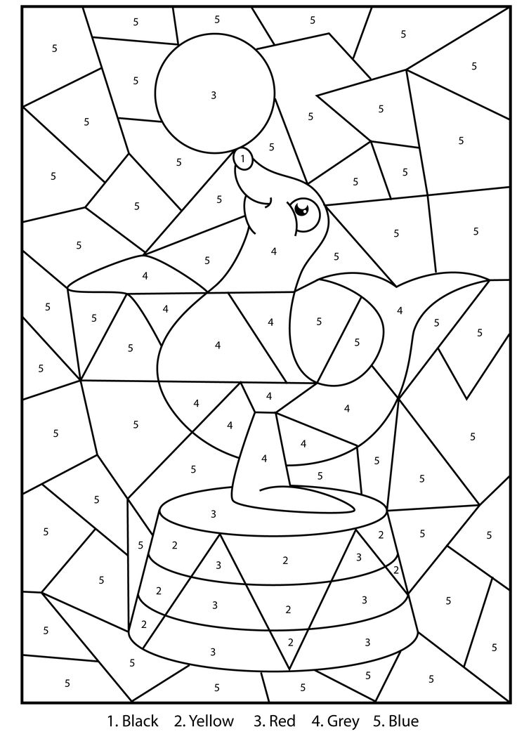 Free Printable Silly Seal Colour By Numbers Activity For