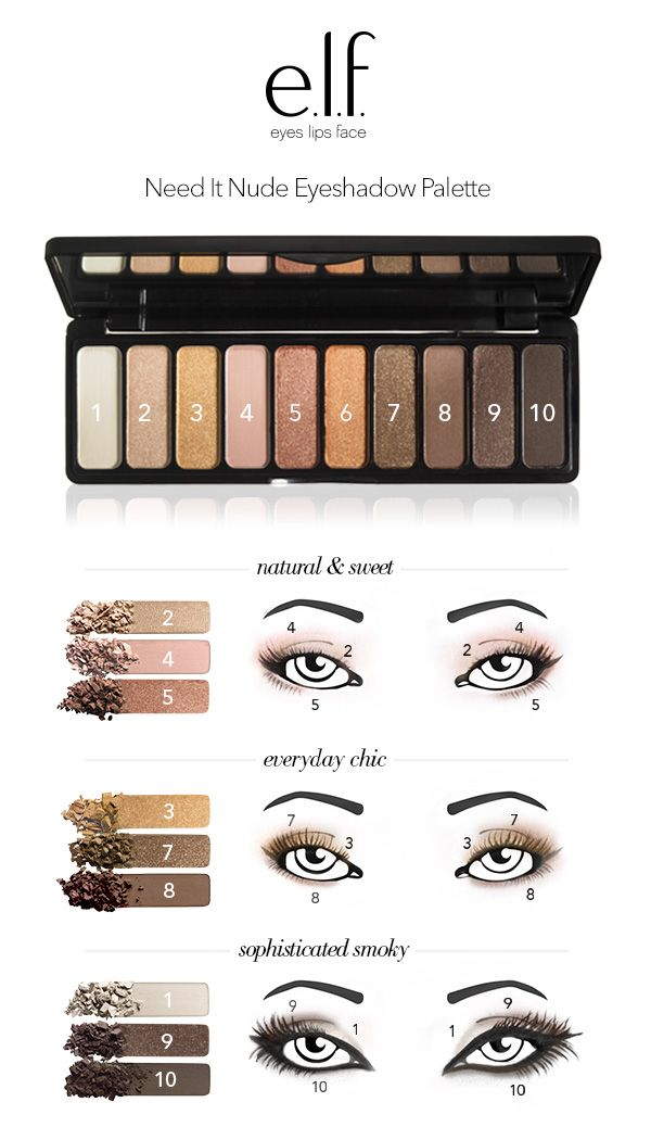 Count the ways to play with the Need it Nude Eyeshadow Palette from e.l.f. Cosmeti