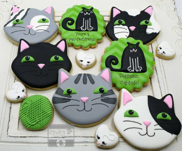 295 Best Images About Cats And Dogs Decorated Cookies And
