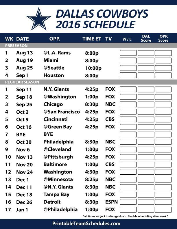 picture regarding Dallas Cowboy Schedule Printable named Dallas Cowboys Program 2019 - Most recent Information and Pics
