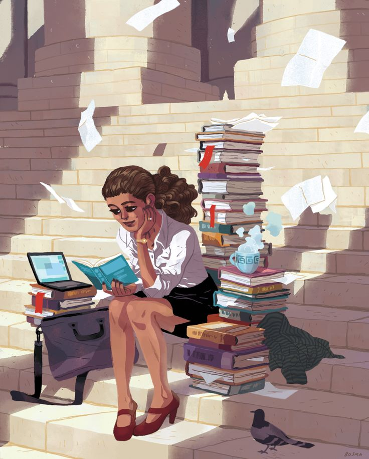 Sam Bosma Lawyer Magazine Girl Illustration Pinterest Lawye