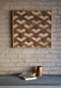 Reclaimed Wood Wall Art, Decor, Lath, Pattern, Geometric ...