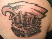 philadelphia eagles tattoo football