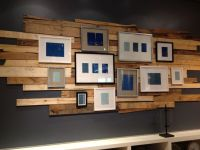 Reclaimed wood and a gallery wall...yes!
