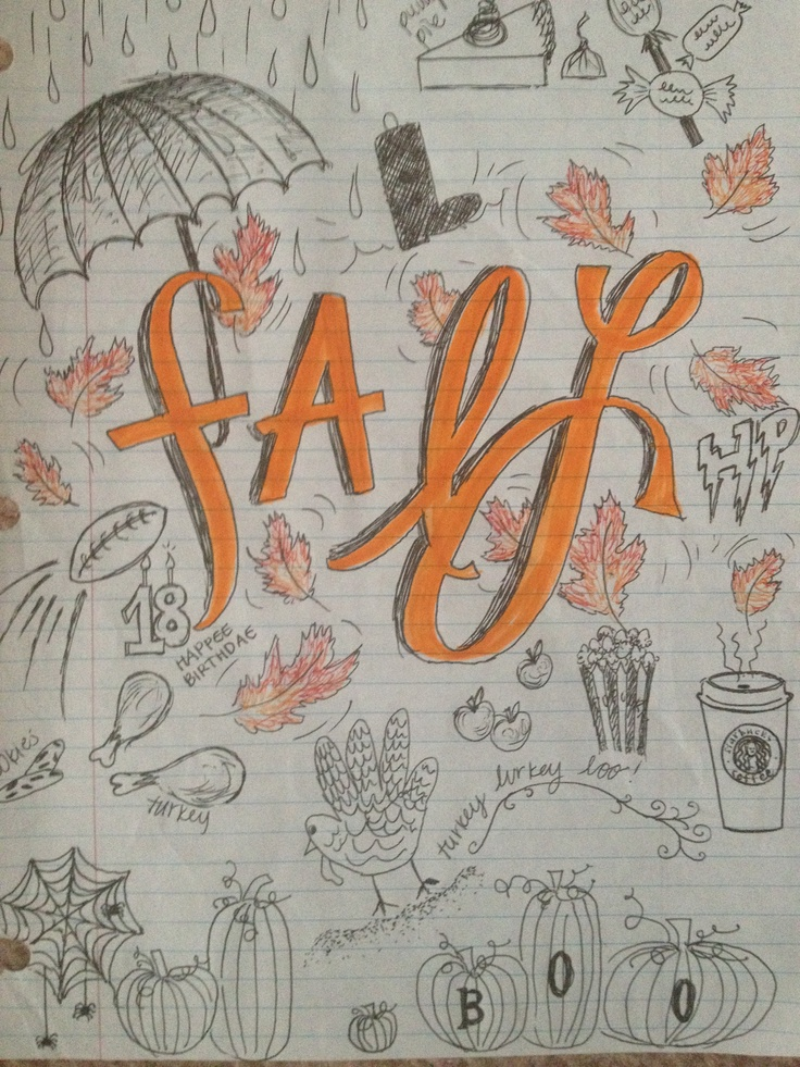 17 Best Images About Fall Doodles On Pinterest Coloring