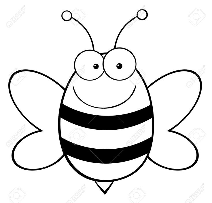 9276558-Outlined-Bee-Mascot-Cartoon-Character--Stock