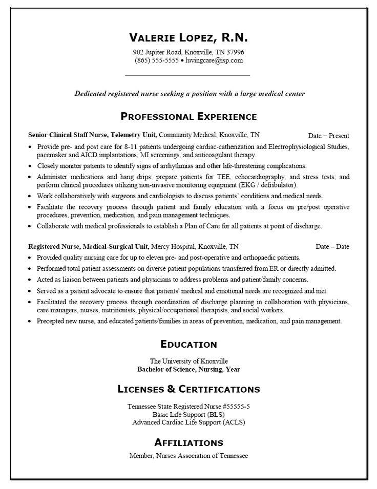Rn Sample Resumes Nursing Resume Sample Writing Guide Resume