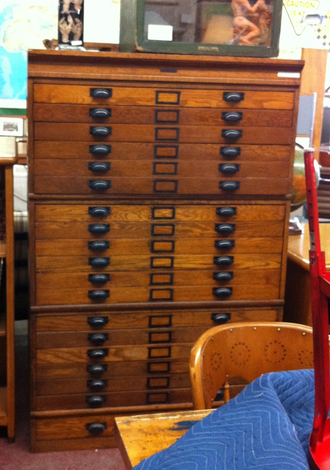 Oak Map Drawers Circa 1920 Perfect For An Office Art