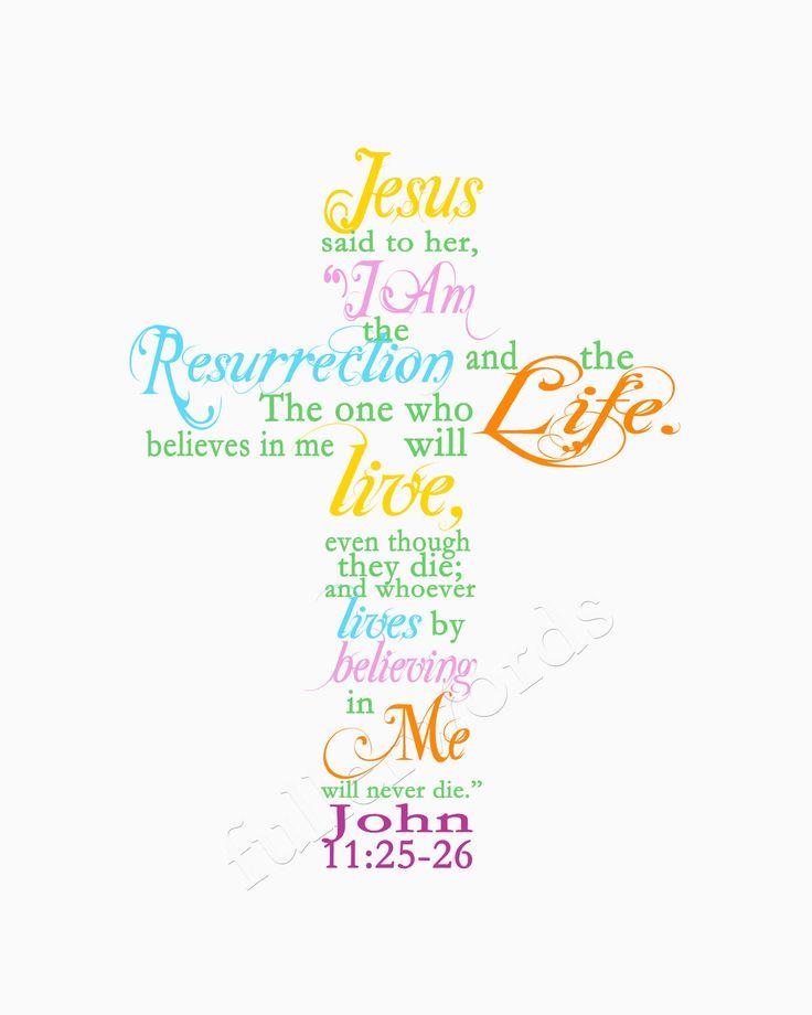 Spring Scripture Verse John 11:25