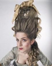 marie antoinette hair with bird