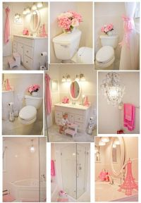 Pink and White Girl's Bathroom | Dream House: Girls Room ...