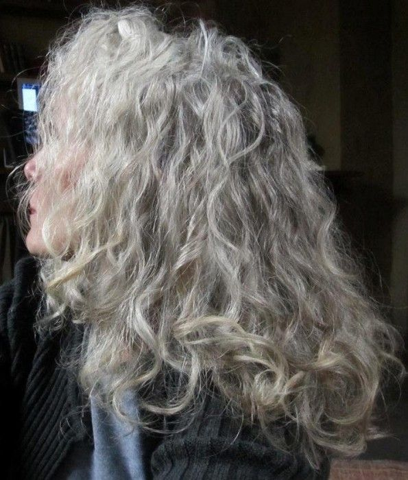 Grey Hair Curly Beautiful Grey Hair And Beautiful Women