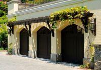 Eyebrow trellis over garage doors | Garden Ideas and ...