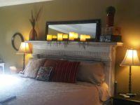 refurbished fireplace mantel as headboard | DIY & Crafty ...