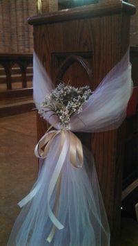 church pew decorations | pew | Pinterest | Church pew ...