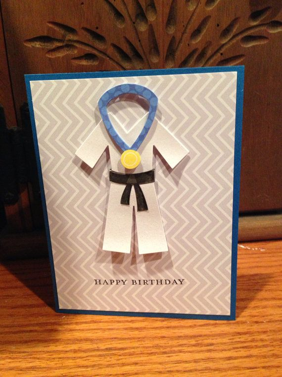 Handmade Happy Birthday Card Karate Birthday Card