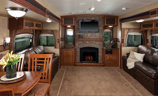 Love The Living Space In This Jayco Eagle Travel Trailer