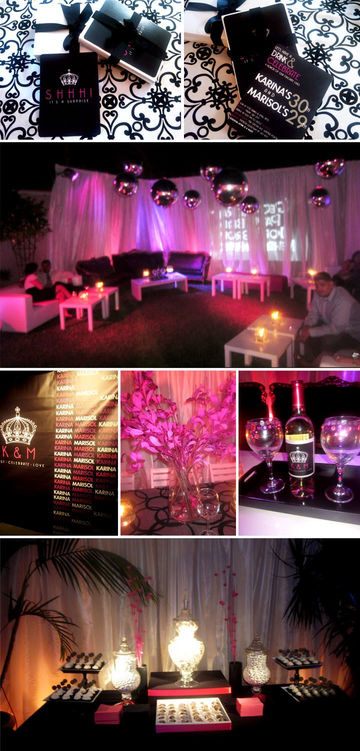 Cammi Lee Events Stunning Surprise Double Birthday Party  30th Birthday Inspiration
