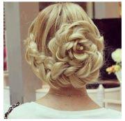 elegant flower braid updo beauty