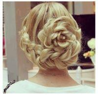 Elegant flower braid updo