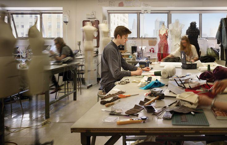 Fashion design studio  LabsClassrooms  Pinterest  New york Schools in and Classroom