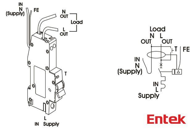 Entek Electric : RCBO wiring diagram www.entekelectric.com