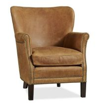 Pottery Barn leather club chair | Chairs | Pinterest ...