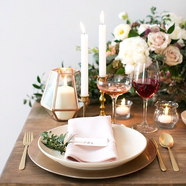 25+ best ideas about Romantic dinner setting on Pinterest