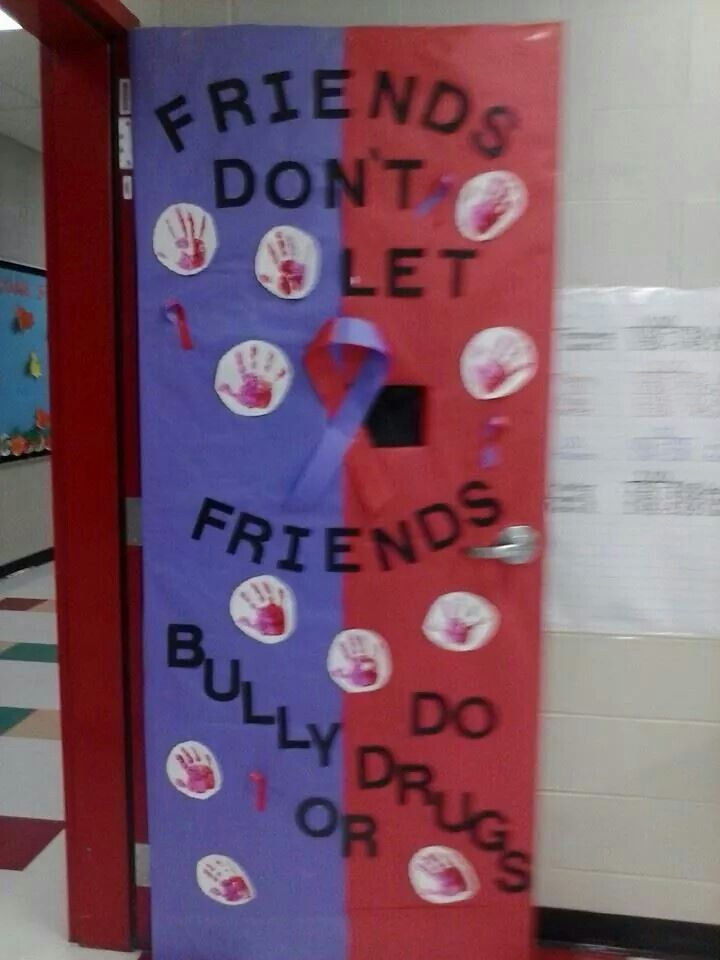 Classroom door for Anti Bullying n Drug Free