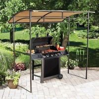 BBQ Gazebo Outdoor Canopy Shade Barbecue Smoker Awning ...